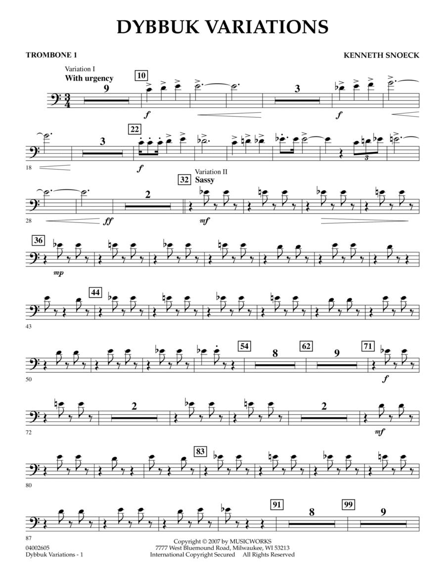 Dybbuk Variations - Trombone 1