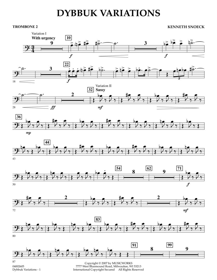 Dybbuk Variations - Trombone 2