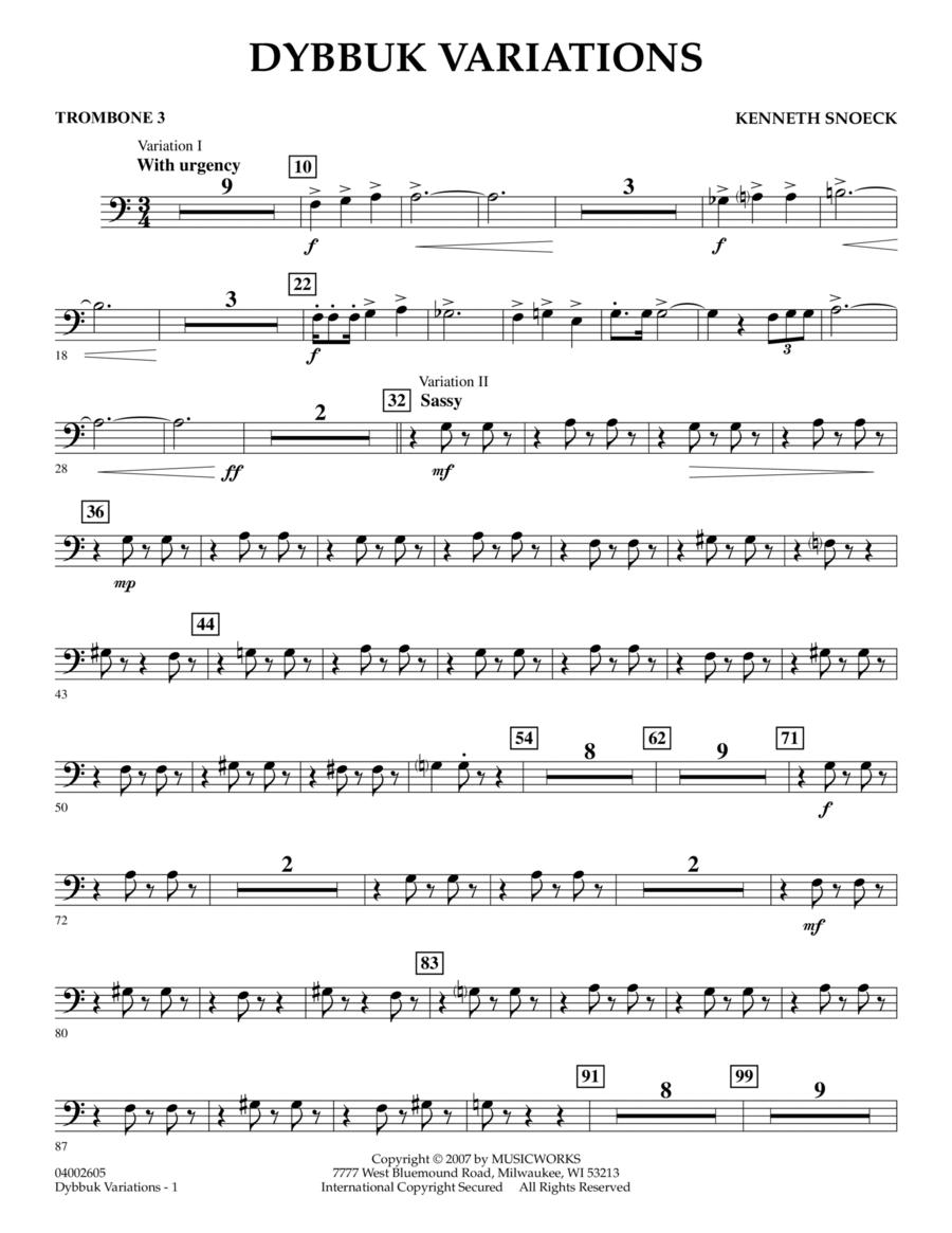 Dybbuk Variations - Trombone 3