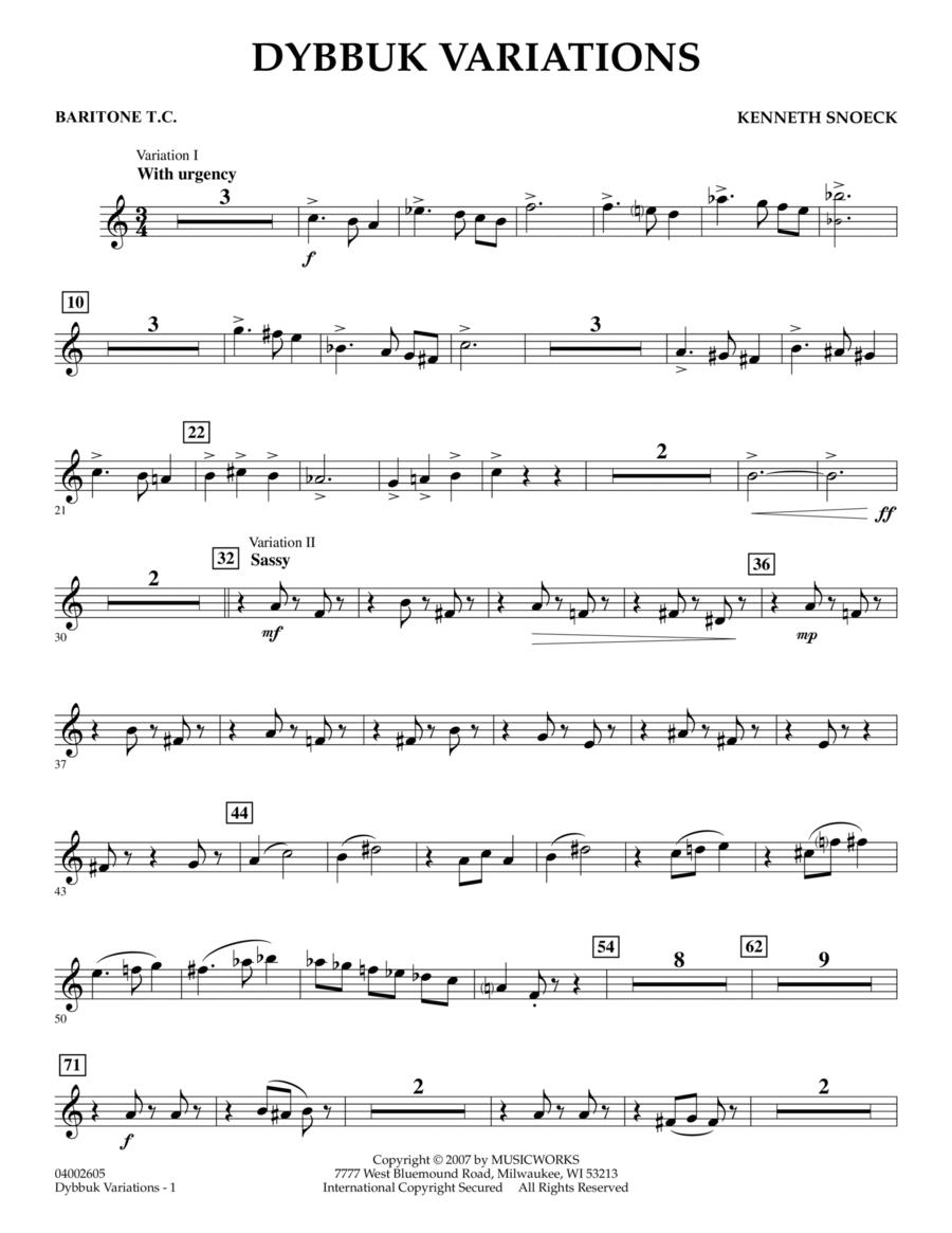 Dybbuk Variations - Baritone T.C.