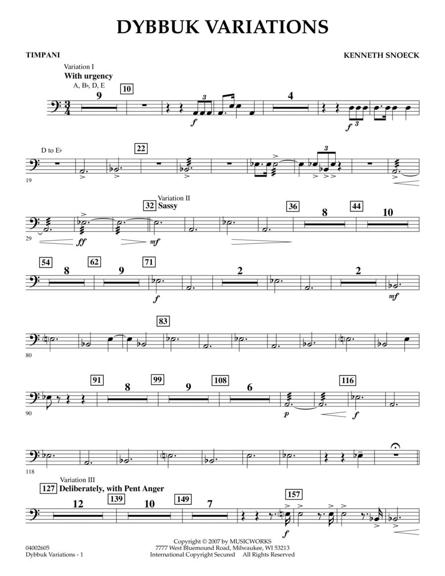 Dybbuk Variations - Timpani