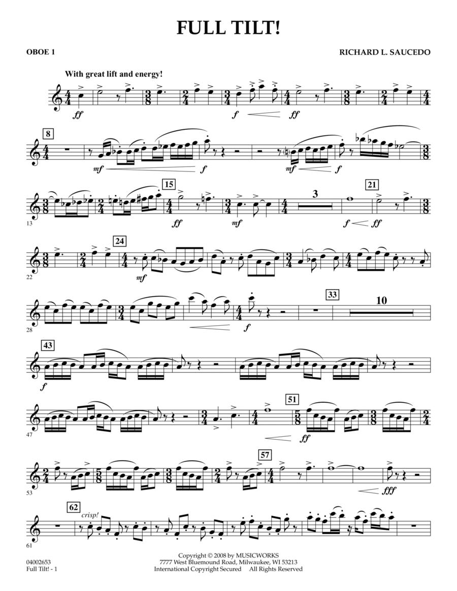 Full Tilt - Oboe 1