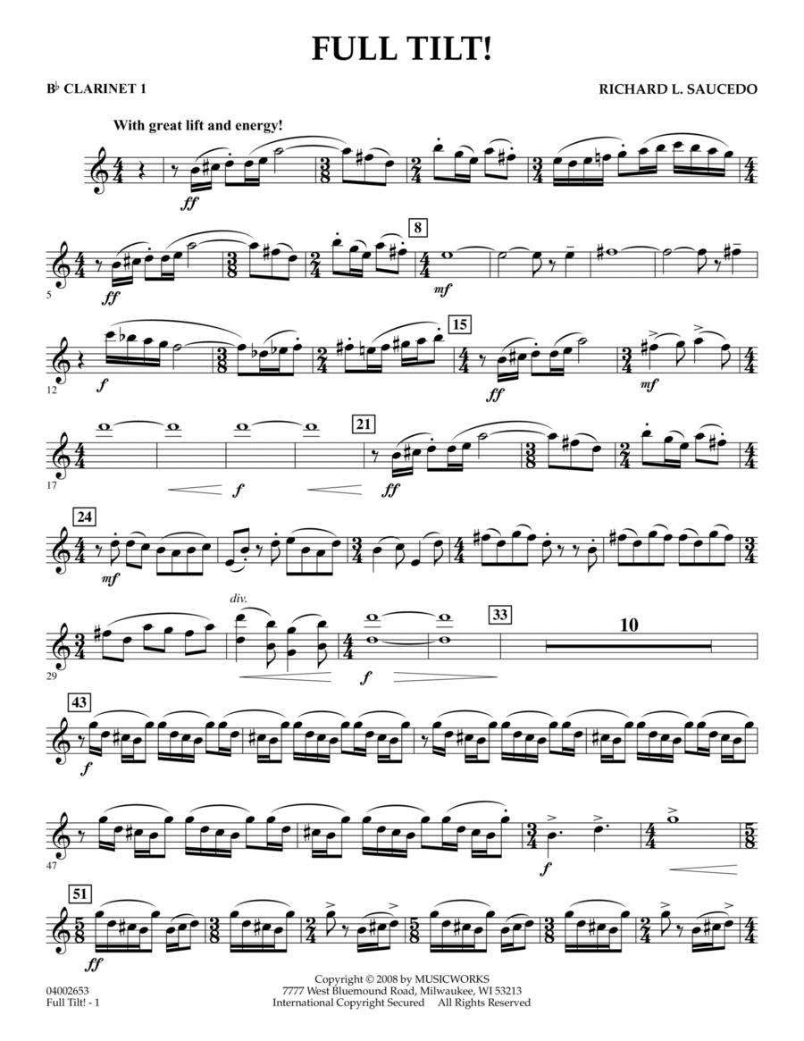 Full Tilt - Bb Clarinet 1