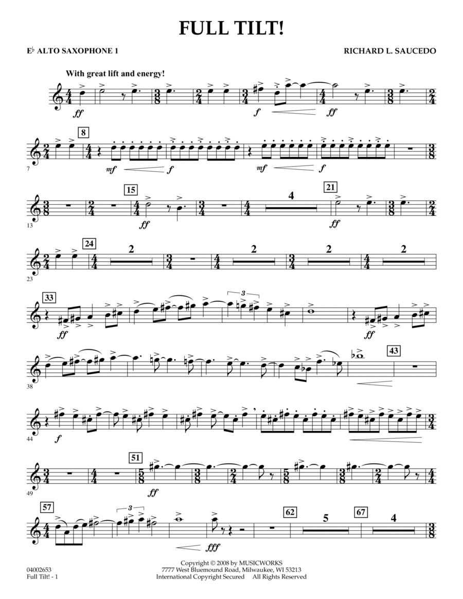 Full Tilt - Eb Alto Saxophone 1