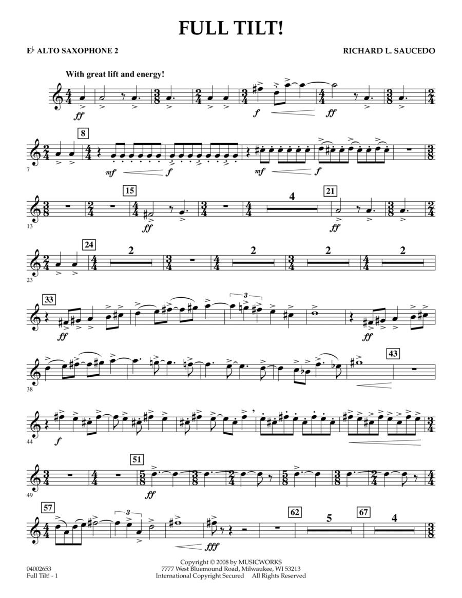 Full Tilt - Eb Alto Saxophone 2
