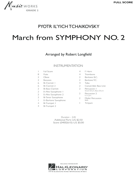 March from Symphony No. 2 - Full Score