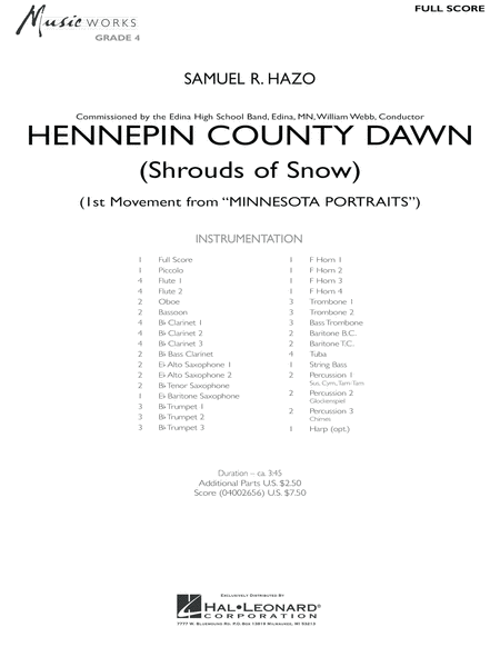 Hennepin County Dawn (Mvt. 1 of Minnesota Portraits) - Full Score