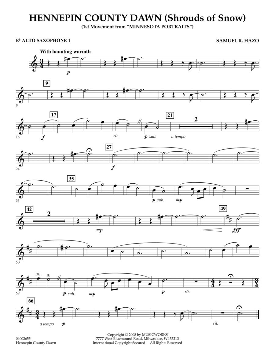 Hennepin County Dawn (Mvt. 1 of Minnesota Portraits) - Eb Alto Saxophone 1