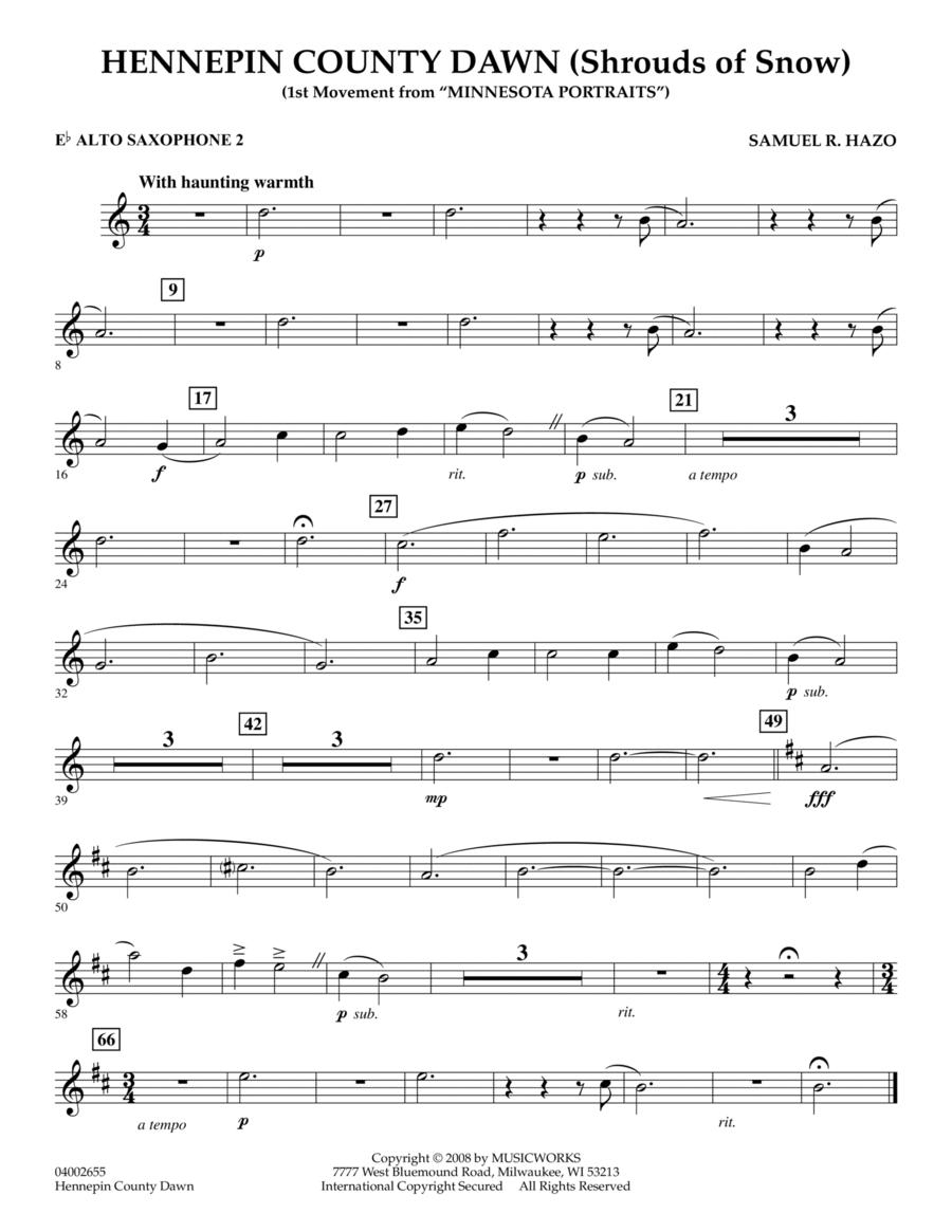 Hennepin County Dawn (Mvt. 1 of Minnesota Portraits) - Eb Alto Saxophone 2