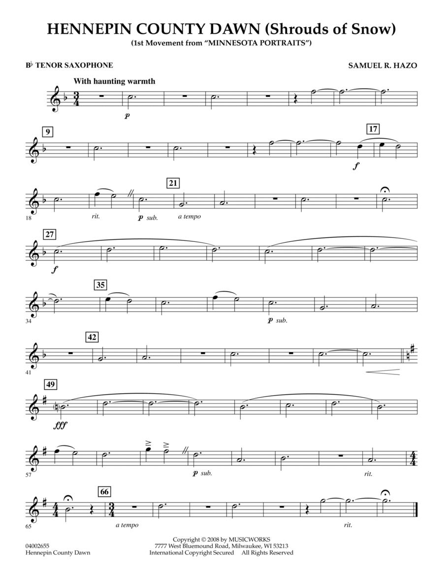 Hennepin County Dawn (Mvt. 1 of Minnesota Portraits) - Bb Tenor Saxophone