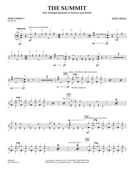 The Summit - Percussion 1