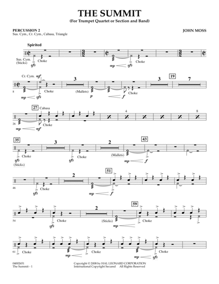 The Summit - Percussion 2