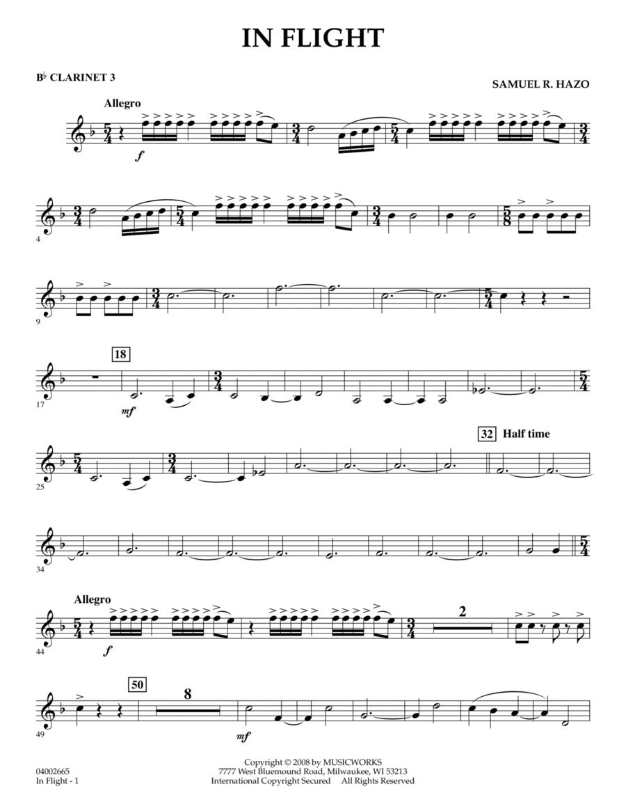 In Flight - Bb Clarinet 3