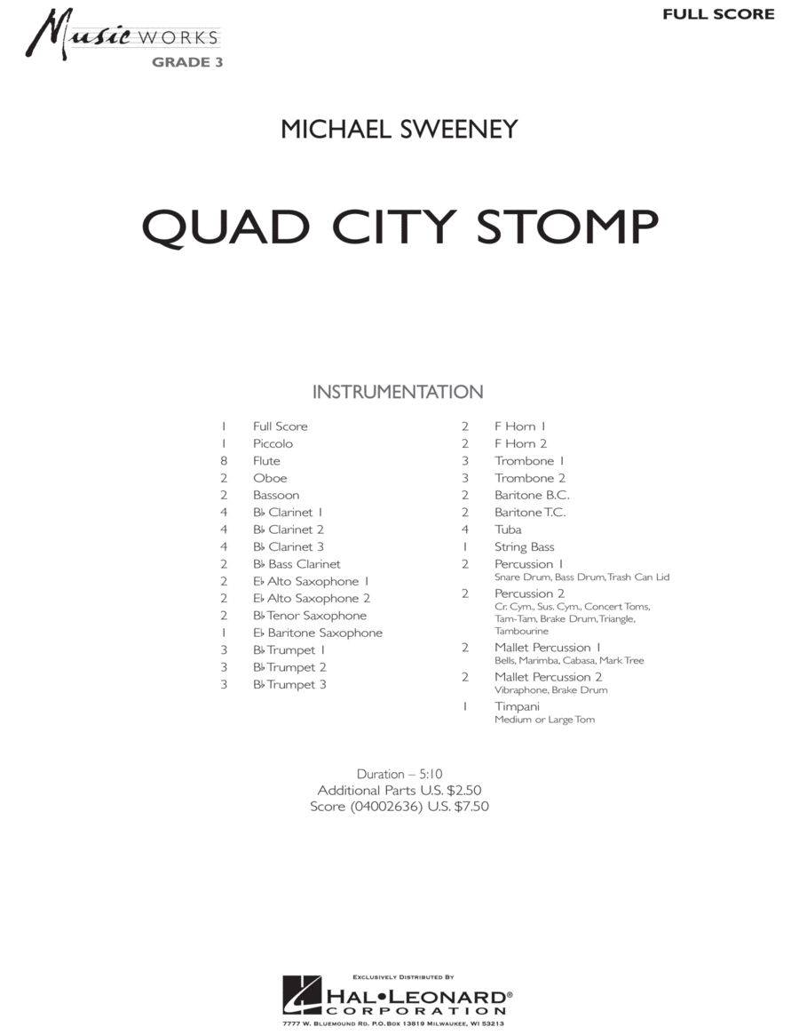 Quad City Stomp - Score