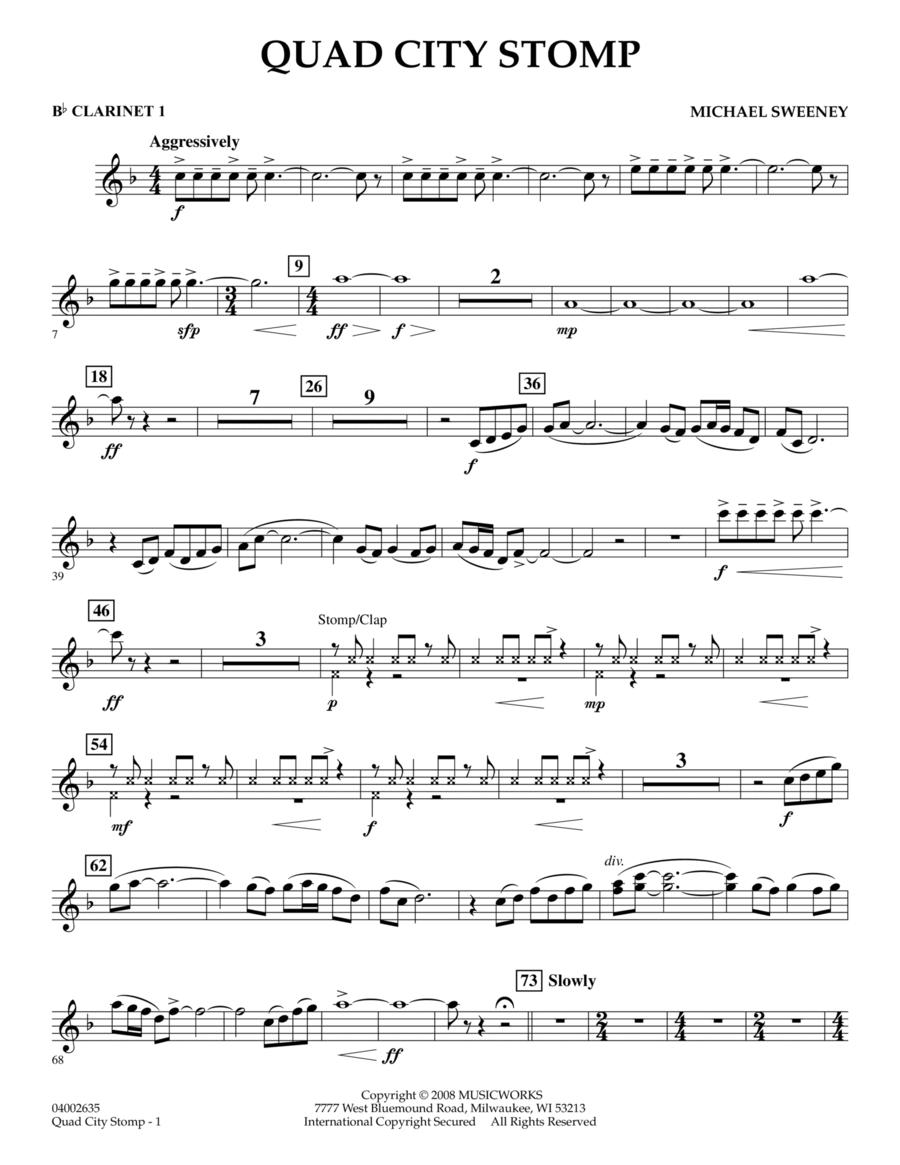 Quad City Stomp - Bb Clarinet 1