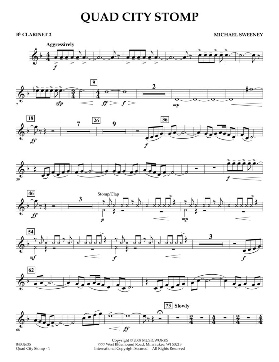 Quad City Stomp - Bb Clarinet 2