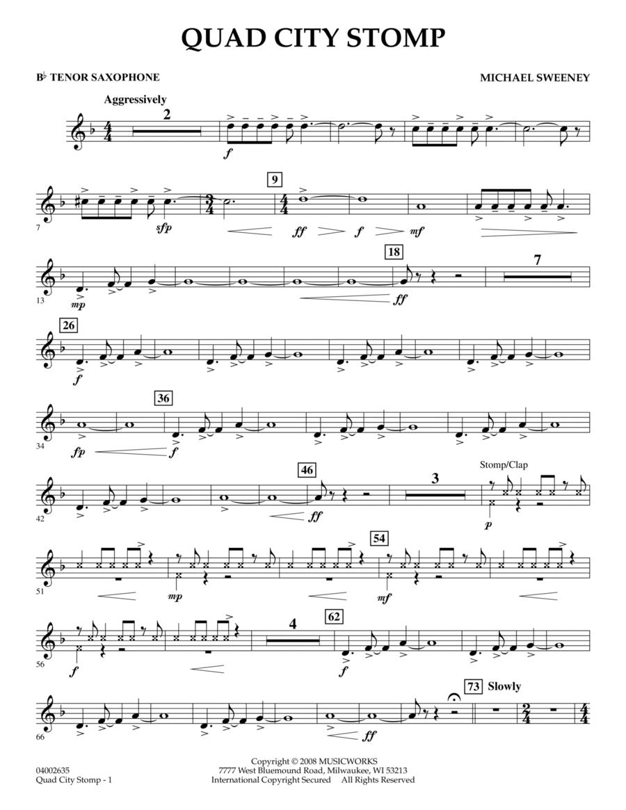 Quad City Stomp - Bb Tenor Saxophone