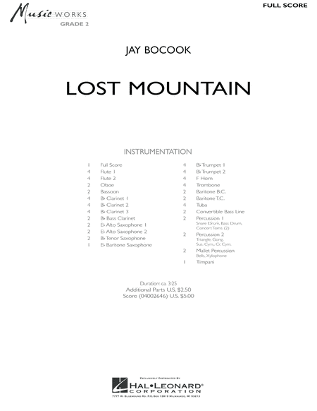 Lost Mountain - Full Score