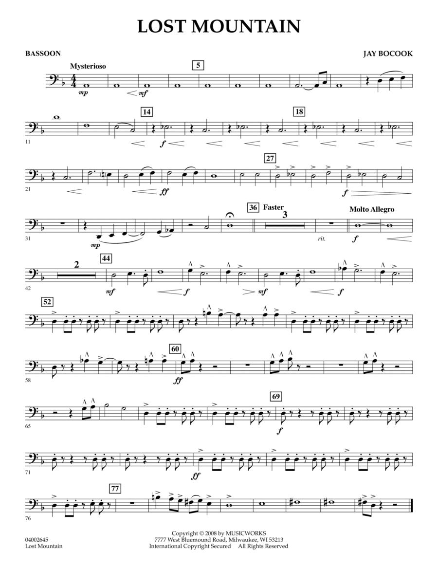 Lost Mountain - Bassoon