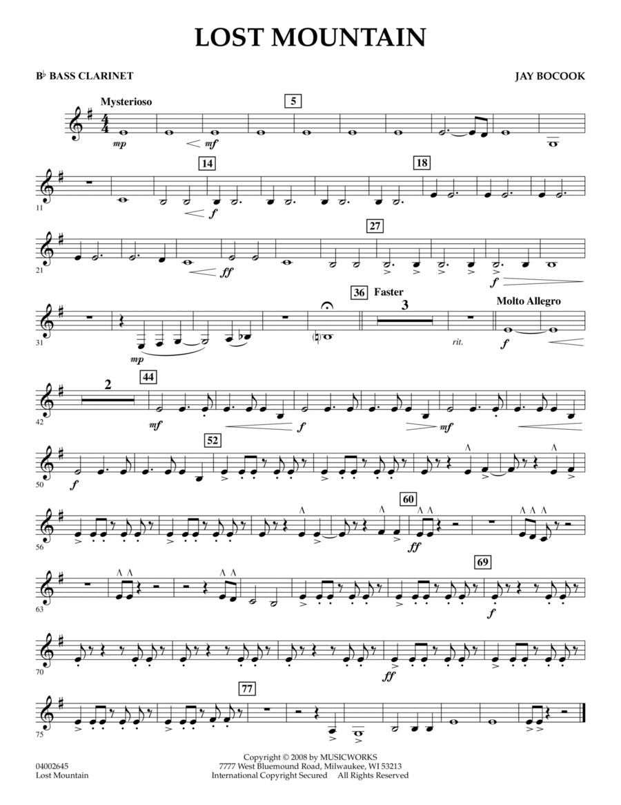 Lost Mountain - Bb Bass Clarinet