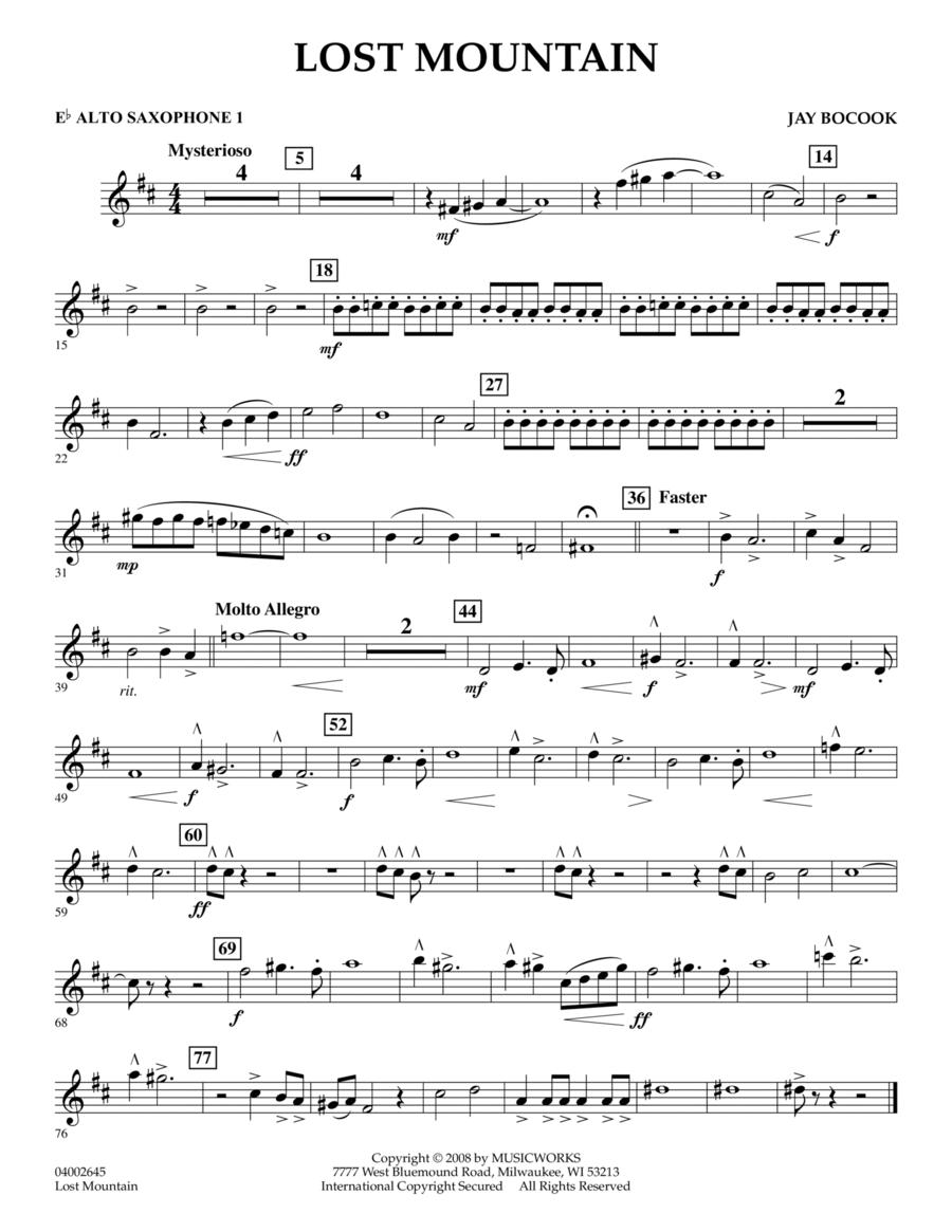 Lost Mountain - Eb Alto Saxophone 1