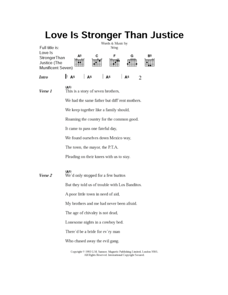 Love Is Stronger Than Justice (The Munificent Seven)