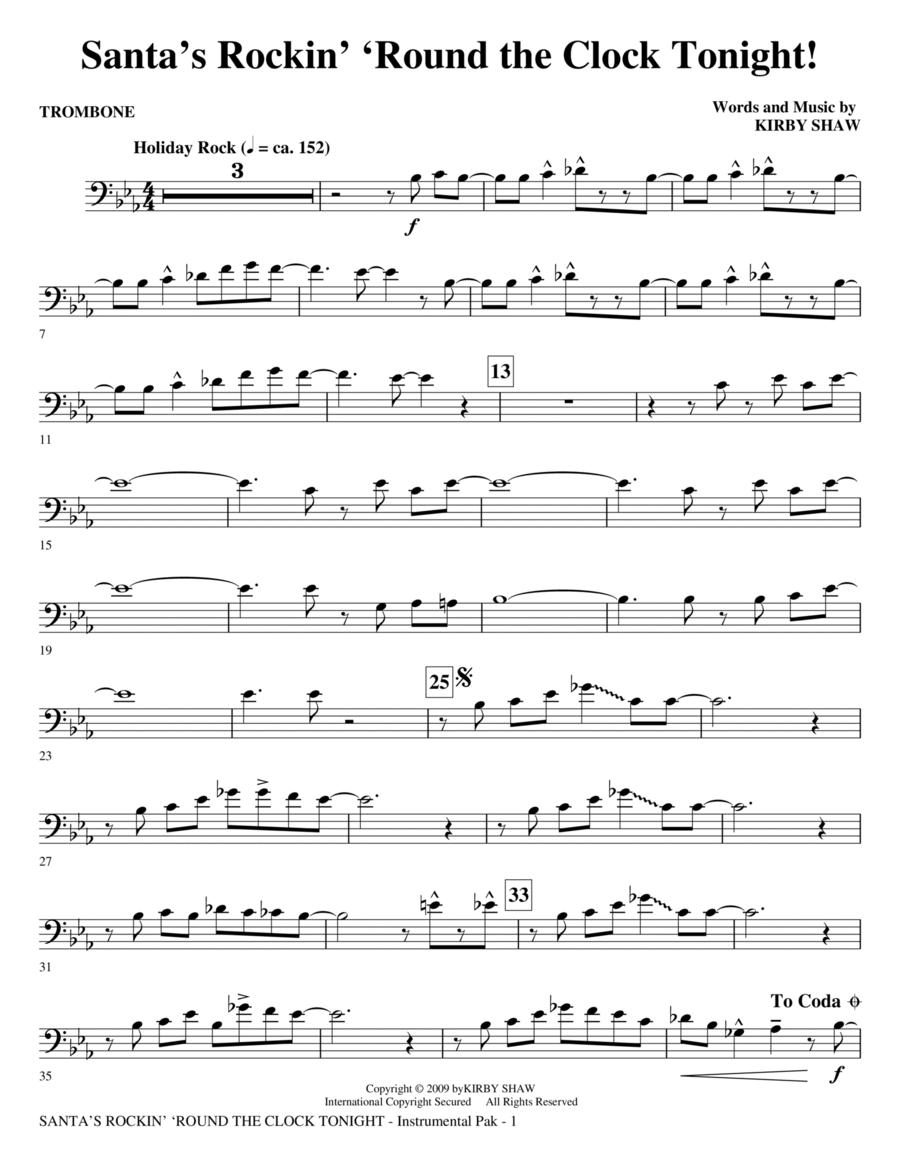Santa's Rockin' 'Round the Clock Tonight! - Trombone