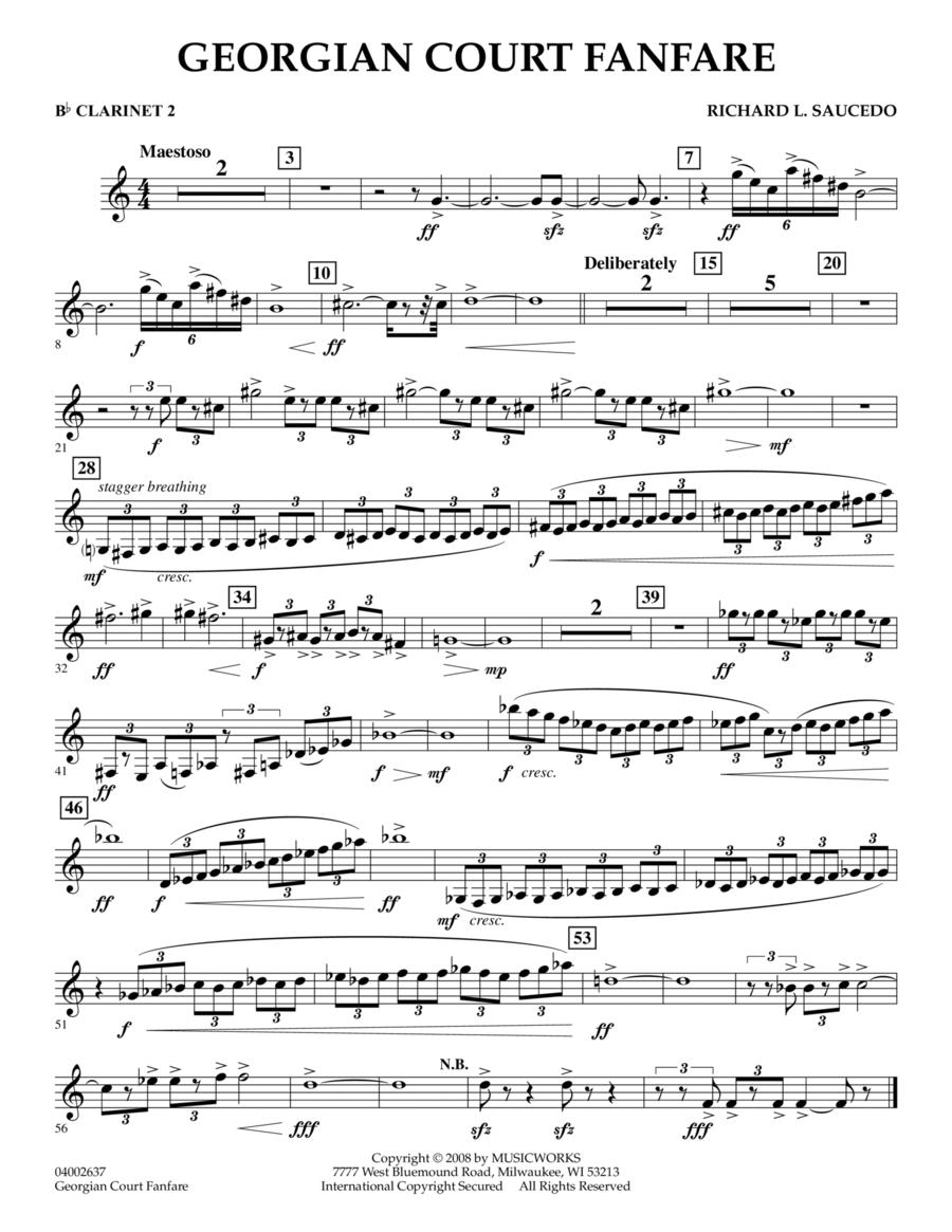 Georgian Court Fanfare - Bb Clarinet 2