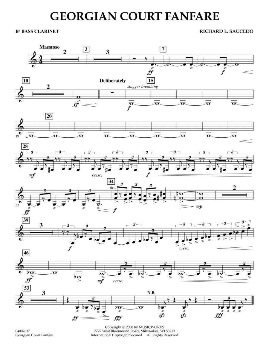 Georgian Court Fanfare - Bb Bass Clarinet