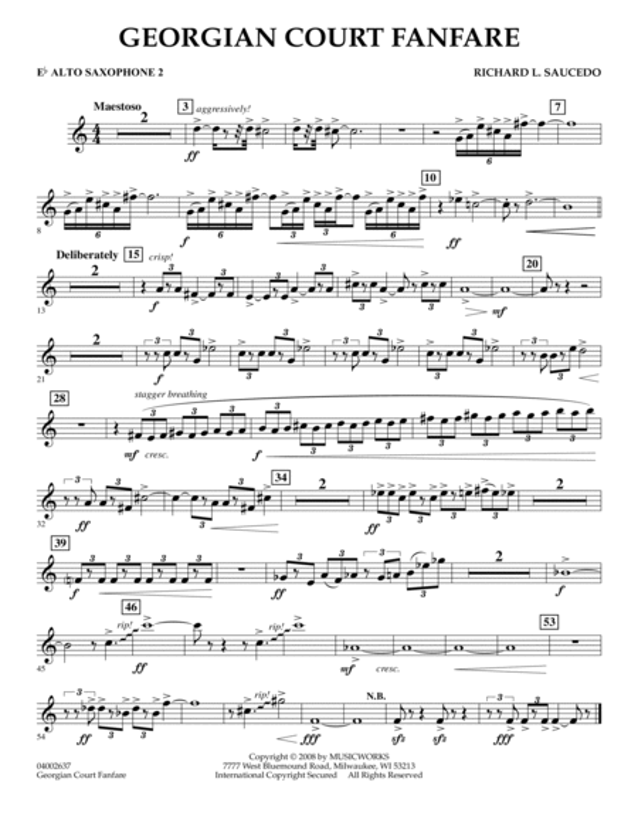 Georgian Court Fanfare - Eb Alto Saxophone 2