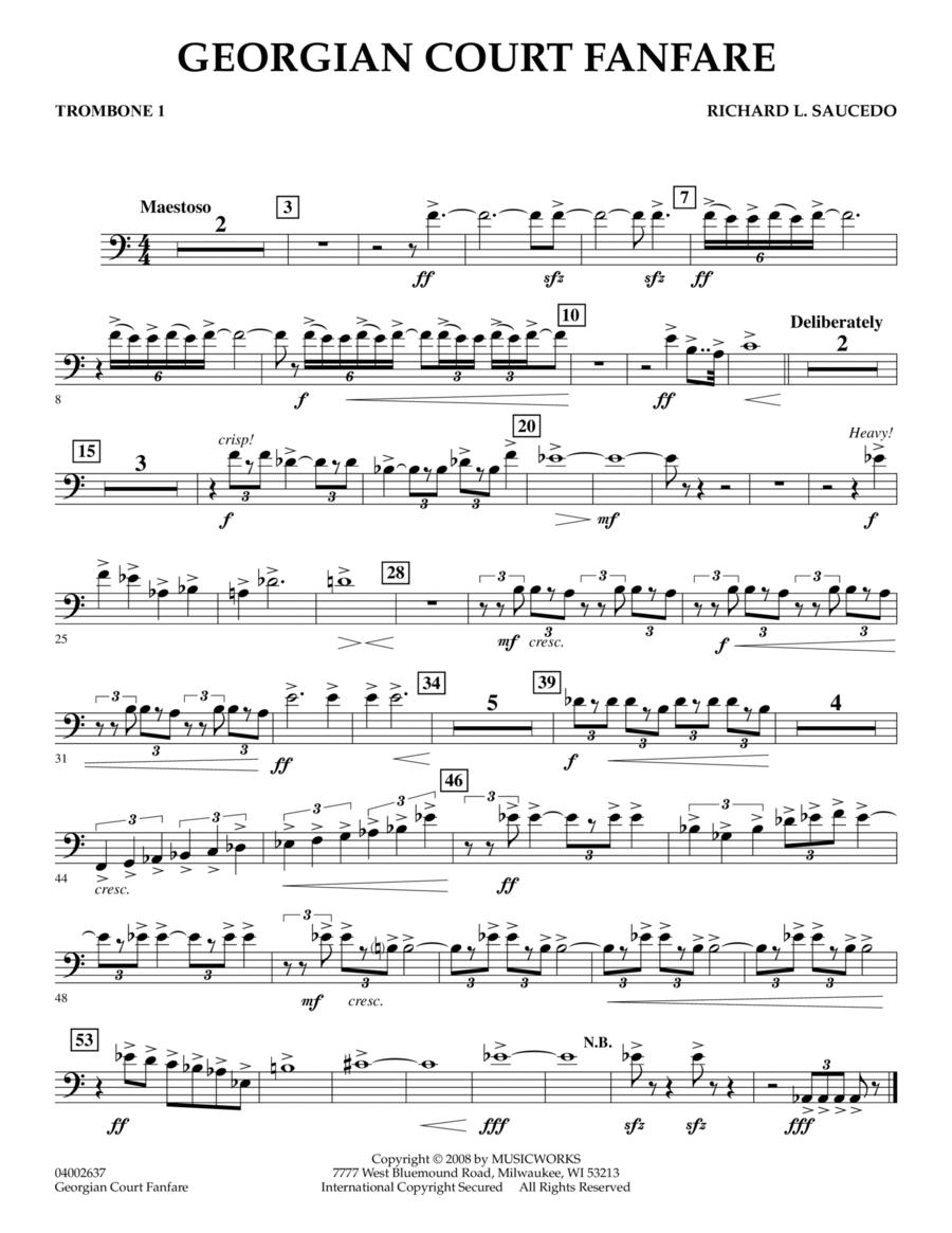 Georgian Court Fanfare - Trombone 1