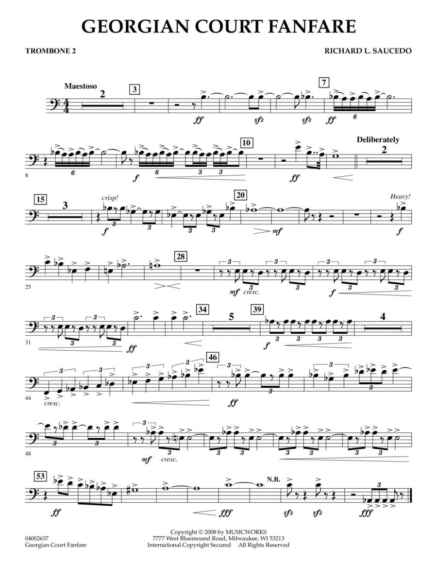 Georgian Court Fanfare - Trombone 2