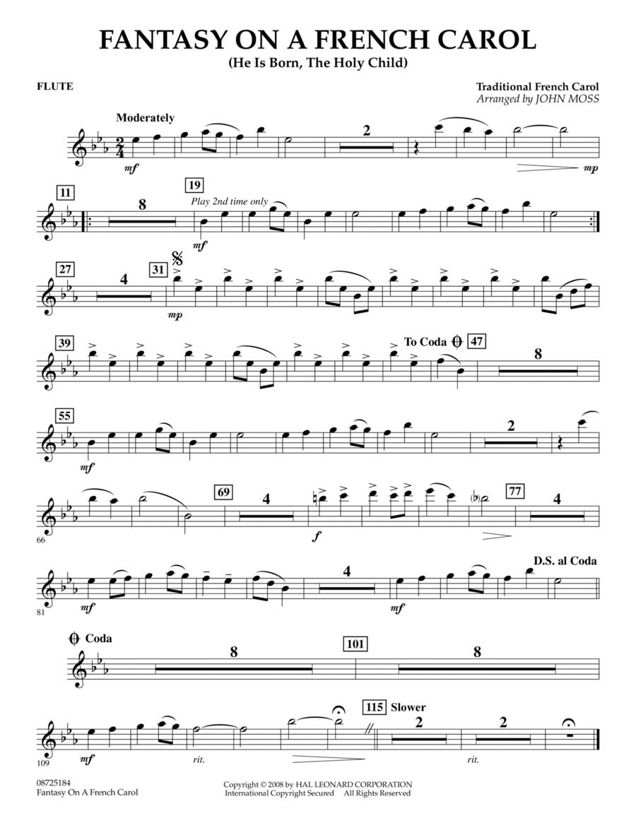 Fantasy on a French Carol - Flute