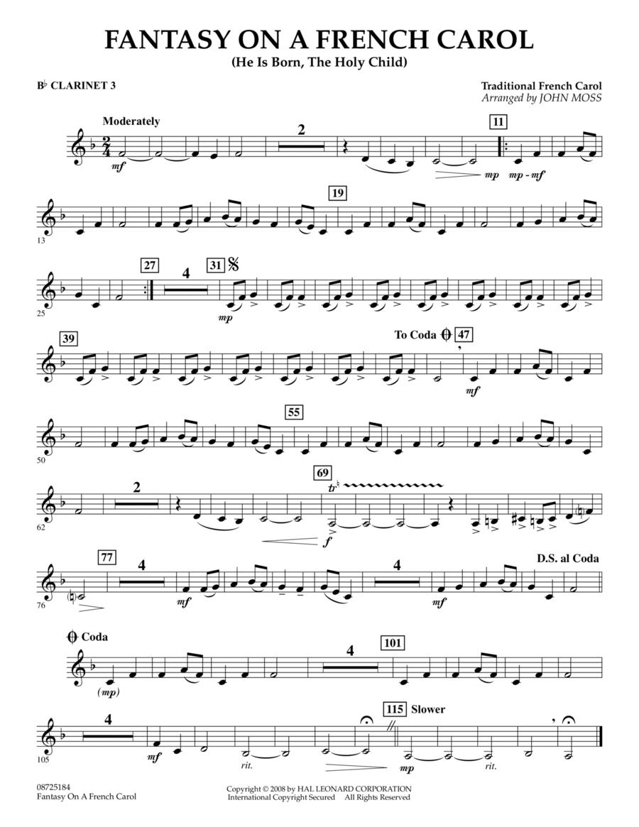 Fantasy on a French Carol - Bb Clarinet 3