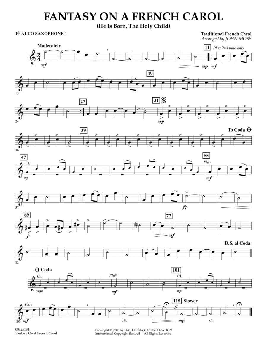 Fantasy on a French Carol - Eb Alto Saxophone 1