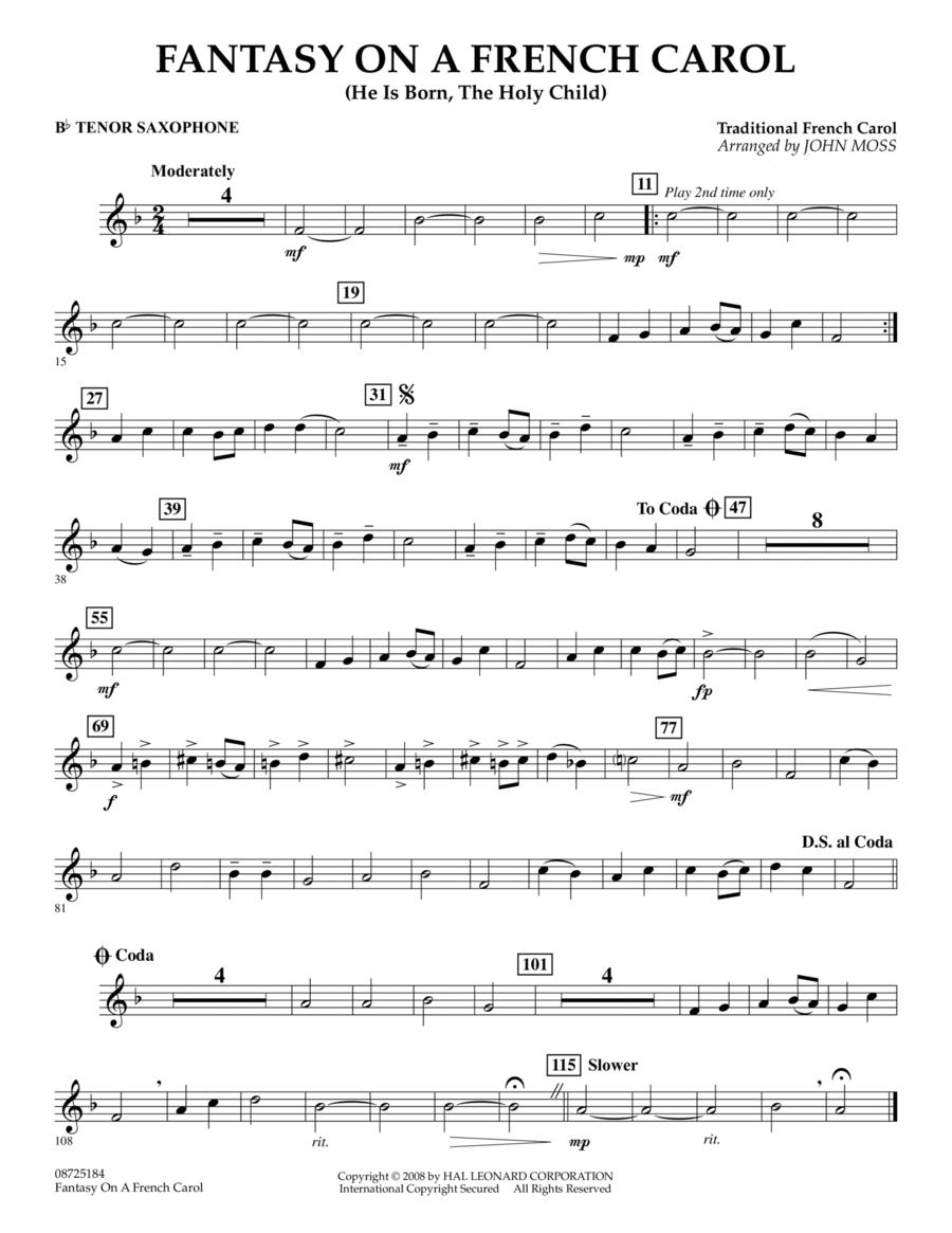 Fantasy on a French Carol - Bb Tenor Saxophone
