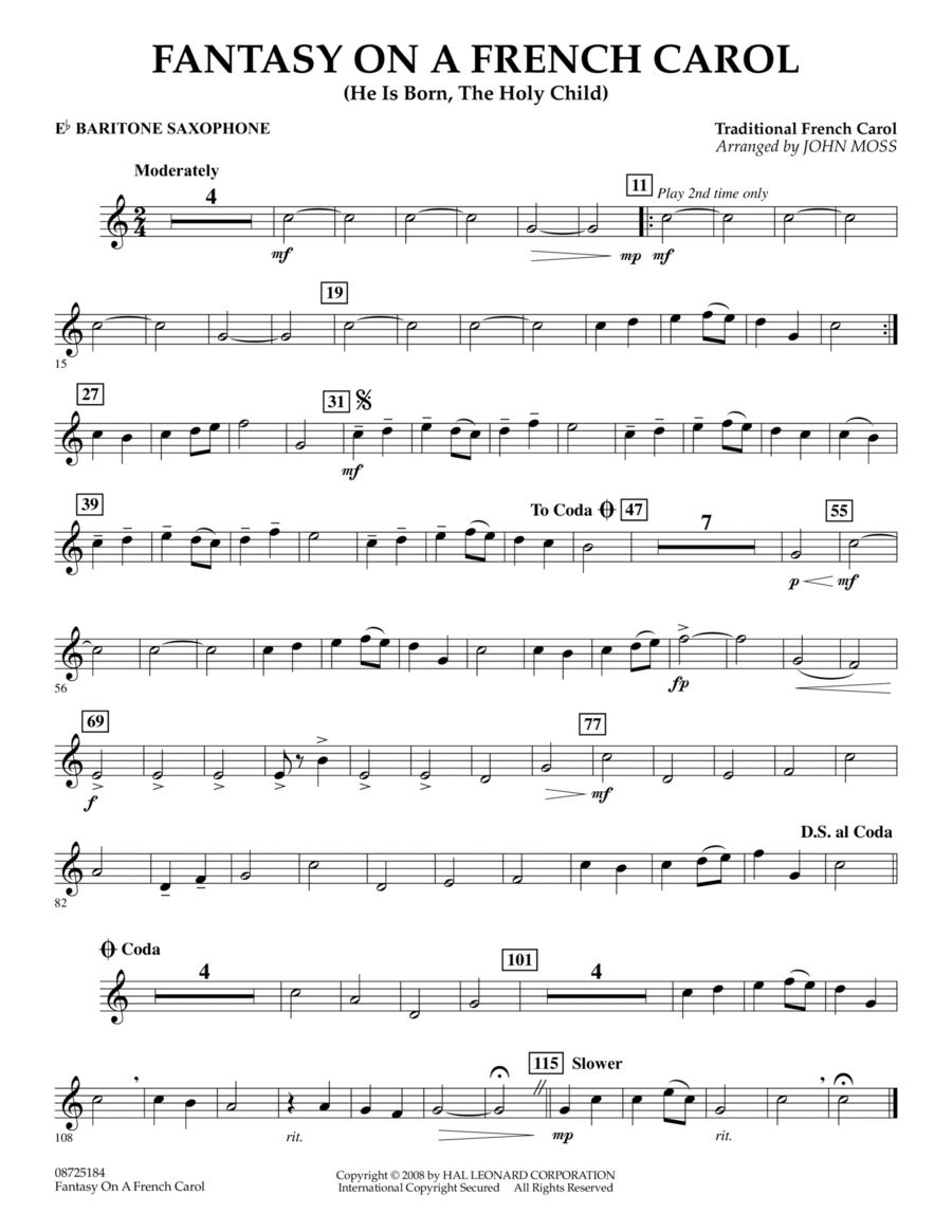 Fantasy on a French Carol - Eb Baritone Saxophone