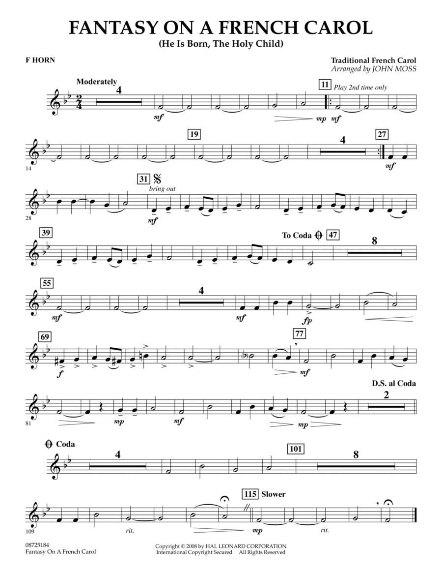 Fantasy on a French Carol - F Horn