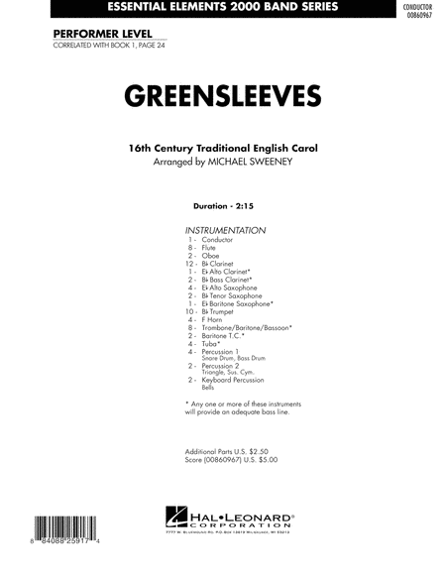 Greensleeves - Full Score