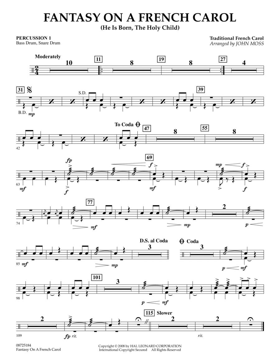 Fantasy on a French Carol - Percussion 1
