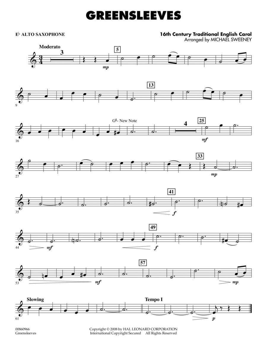 Greensleeves - Eb Alto Saxophone