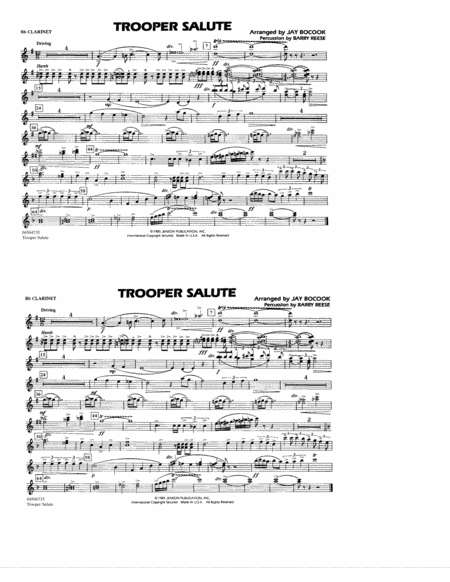 Trooper Salute - Bb Clarinet