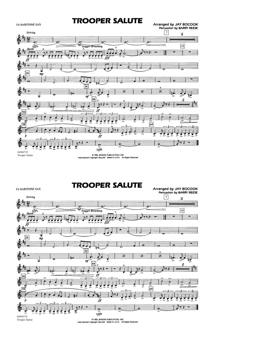 Trooper Salute - Eb Baritone Sax
