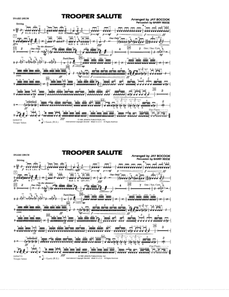 Trooper Salute - Snare Drum