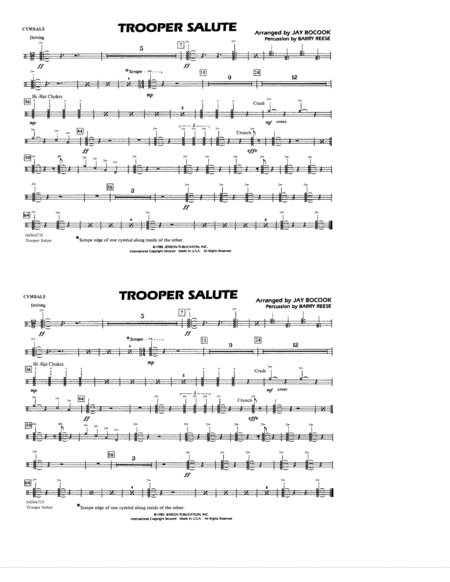 Trooper Salute - Cymbals