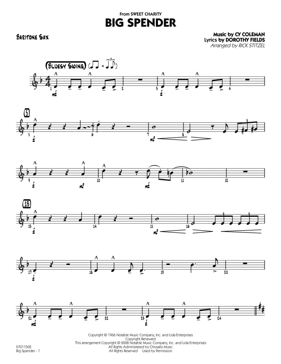 Big Spender - Baritone Sax