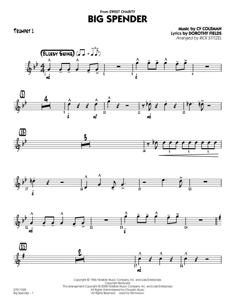 Big Spender - Trumpet 1