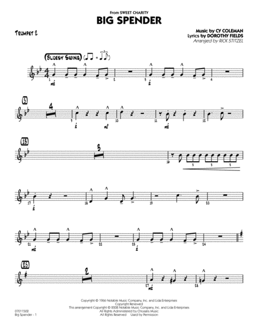 Big Spender - Trumpet 2