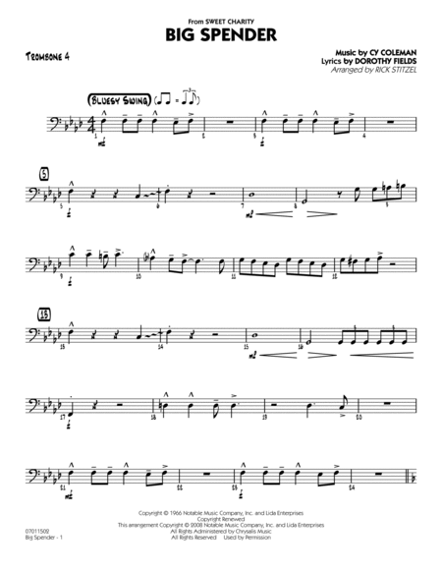 Big Spender - Trombone 4