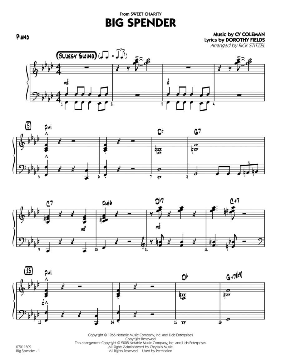 Big Spender - Piano